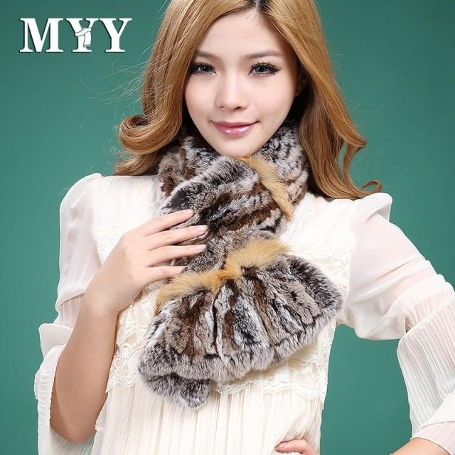 2013 rex rabbit hair scarf muffler scarf winter raccoon fur knitted rabbit fur scarf fur female(China (Mainland))