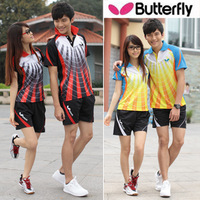 Butterfly Table Tennis Shirts and Shorts Men and Women Tennis/PingPong Jersey Sports T Shirt Badminton Shirt Free Shipping