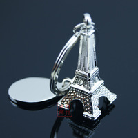 free shipping 20pcs Model keychain mini key chain eiffel tower key ring keychain