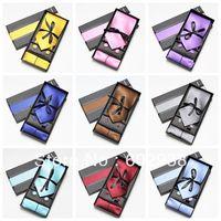 neck tie set necktie hanky cufflinks soid color men's ties sets gift box Handkerchiefs Pocket square tower cravat