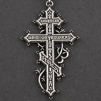 Gothic Cross Pendant The Greek Orthodox cross with amulet personality jewelry unisex necklace free shipping