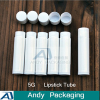 Free Shipping-5G Lipstic Tube,Empty Plastic Sub-bottling,Small White Cosmetic Container,Makeup Lip Gloss Vials,100PCS/LOT