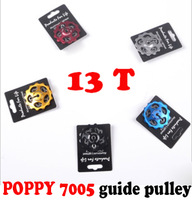 POPPY 13T 7005 CNC alloy rear derailleur guide pulley bearing, Jockey Wheel for Rear Derailleur Pulley 13T  Free Shipping
