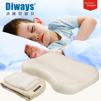 Diways child latex pillow student pillow all natural latex pillow shoulder pad cervical pillow