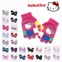20pair/lot Promotions!! Wholesale Hello kitty glove Children's gloves free size  mixed color FKG111302