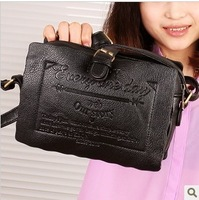Small fresh 2013 brief vintage sandwich biscuits bag color block women's cross-body handbag shoulder bag