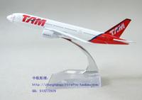 16 cm Pegasus Airlines TAM Brazilian aircraft model Boeing B777-200 planes alloy die gifts souvenir Adult Children Toy Vehicle