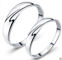 100% Real Pure 925 Sterling Silver Pilotaxitic lovers ring female 925 pure sterling silver ring male ZKR102