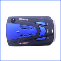 100% The Newest Car Radar Detector Built-In Russian/English Voice Nice LED Bands Display WholeSale And Retail Free Shipping