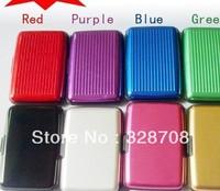 200pcs /lot 8 colours Aluminum Wallet As Seen On TV Credit Card Holder