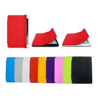 100pcs/lot Free Shipping 9colours High quality holder case for ipad air ipad5 Leather smart cover case for ipad 5