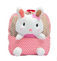 new 2013 cartoon bag baby school bag children's backpacks rabbit doll pink bags nine colors bolsa wholesale