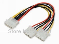 [FREE SHIPPING/EPACKET!] WHOLESALE 20pcs/lot 4 Pin IDE Molex Power Supply Y Splitter Extension Cable