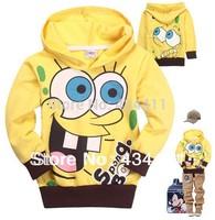 1PC Retail Spongebob Baby Girls cartoon T-shirts cotton long sleeve shirt kids hoodies t-shirt fashion tops children autumn wear