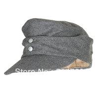 WWII GERMAN ARMY EM PANZER M43 M1943 FIELD WOOL CAP GREY IN SIZES-33693