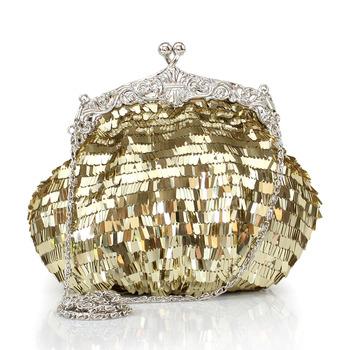 Sweet women's handbag bag paillette diamond the banquet evening bag water hinge pack day clutch wallet chain messenger bag