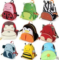 School bag double-shoulder baby school bag cartoon bag child canvas backpack