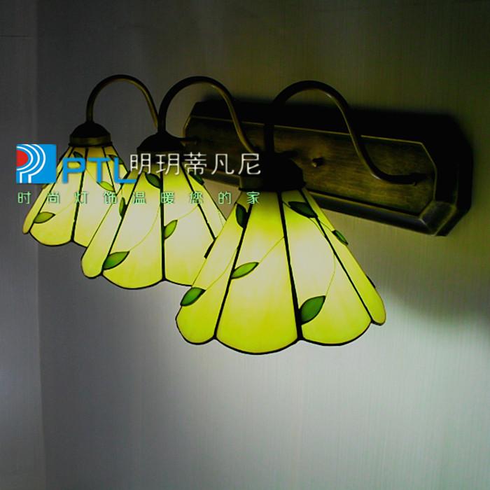 Kd wall lamp rustic bedroom lights study light bathroom mirror light modern brief 3 lamps(China (Mainland))
