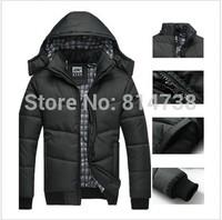 Hot! wholesale price 2013 Mens Warm Hoodie Hoodey Coat Parka Winter Coat Outwear Down Jacket N103