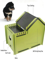 Wholesale Detachable High-Density Plywood Wooden Dog Kennel, Dog House Of 55X35X50CM With Ceiling, Balcony, Air Hole