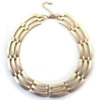 Fashion Gold Annular Short Hollow Out Thick Necklace Free Shipping Min.order is $15(mix order)