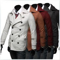 free shipping The winter men's double breasted coat