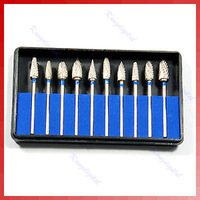D1910 Pcs/set Tungsten Steel Dental Burs Lab Burrs Tooth Drill