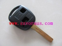 To 2 button remote key shell TOY48 blade without logo,  car remote key shell & auto key blanks