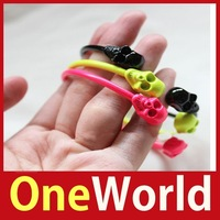[One World] Fashion Fluorescent Candy Color Punk Skull Bracelet Personality Bangle Save up to 50%