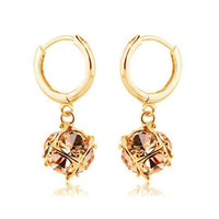 Accessories austria crystal long design drop earring earrings magic cube female birthday gift Free Shipping