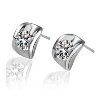 Free shiping new arrival Fashion accessories cuicanduomu hearts and arrows zircon stud earring exquisite earrings