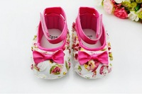 baby girl rose flower first walkers princess shoes for babies baby lace prewalker Soft bottom shoes 3pair/lot free shipping