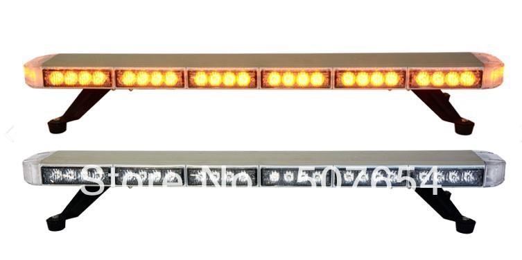High quality 0.8m DC12V 54*1W Led Mini lightbar/police light/led lightbar(clean lens,aluminium alloy mount,warerproof IP56)(China (Main