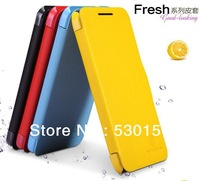 Nillkin Brand Summer Color Magnetic Closure pu Leather Phone Case For HTC Desire 300 Flip Cover, With Retail Box, Freeshipping!