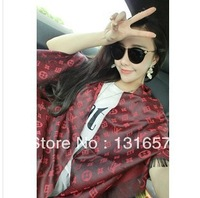"Wholesale 10pcs/lot 2013NEW FASHION Scarf For Woman,Printing ""L"" Letters Shawl, Double-sided Fringed Shawl. S60"