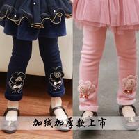 4280 Winter 100-140cm Children Kids Girls Flower Velvet Thickening Legging Pants Trousers,1 lot=5 Sizes each Color