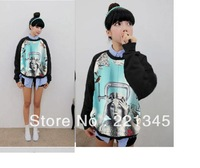 2014!!fashion vintage head portrait female sweatshirt