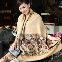 New Winter Cotton Bohemia Warm Women Long Scarf Ethnic Style Tassel Large Scarves Wrap Shawl DH008