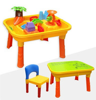 Seashells water table 8803a sand play multifunctional learning desk water beach table toy bargeboard chair