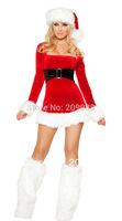 longest Christmas costumes for women,Sweetheart Miss Santa Dress  AL732