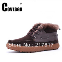 Free shipping Top quality Winter cotton-padded shoes trend male casual snow boots real genuine leather martin fashion boots mens