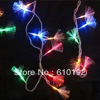 5pcs/lot 2014new year 220V/110V  Colorful 10M 100 LED Fiber Optic String Light for Christmas Xmas wedding easter halloween Party