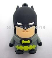 Super Hero Batman  4GB 8GB 16GB 32GB  Real USB 2.0 Flash Memory Stick Pen Drive Thumbdrive U-disk Card  Mobile Storage Devices