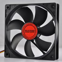 Host computer case black 12v 12cm fan quieten 12cm 4pin interface
