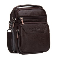 Free shipping 2012 new arrival vertical mini man genuine leather waist pack multifunctional shoulder bag  mobile phone bag