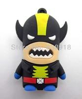 Super Evil Wolverine 4GB 8GB 16GB 32GB  Real USB 2.0 Flash Memory Stick Pen Drive Thumbdrive U-disk Card  Mobile Storage Devices