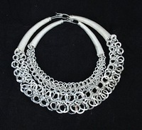 Miao silver collar miao silver necklace large