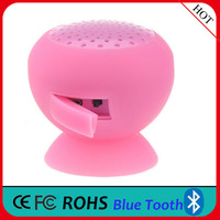 promotion gifts for christmas suction cup silicone mushroom bluetooth speaker