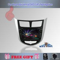 Koason 7'' GPS Navigationg For Hyundai Verna DVD GPS,Free Shipping And Free Rear-View Camera ,4G Map Card