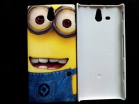 1 pcs Fashion cartoon despicable Me special hard case for Sony Xperia U ST25i protective back cover